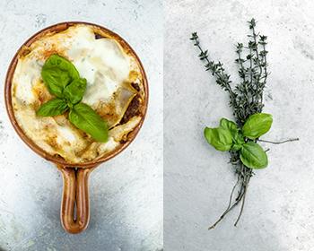Bild von Lasagne und Thymian