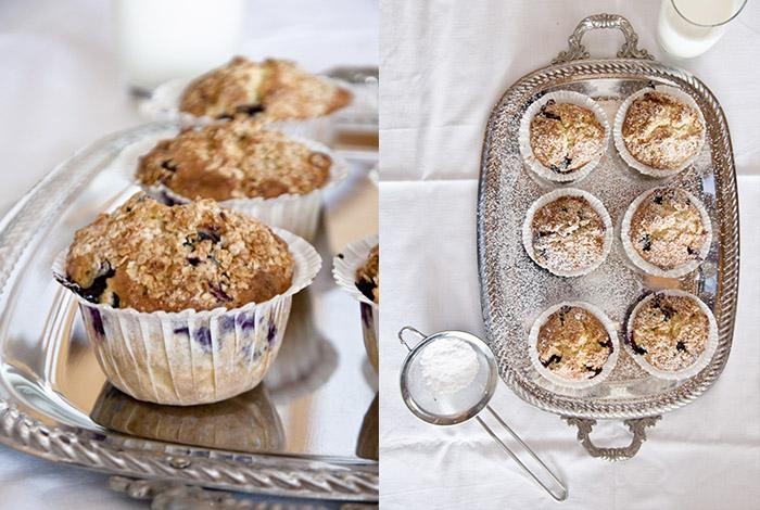 Fotos von Muffins mit Beeren